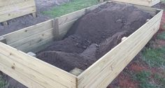 Up to loads of dirt. Lots of work, but almost there! Building Raised Garden Beds, Little Designs, Duvet Bedding, Bed Covers, Diy, Down Comforter Bedding, Bed Quilts, Quilt Bedding, Bricolage