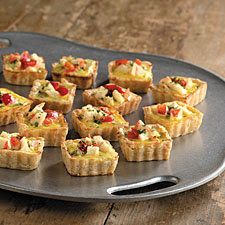 Crab and cheese quiches are baked in tiny squares, so they& perfect appetizers. Crab Recipes, Appetizer Recipes, Snack Recipes, Cooking Recipes, Catering Recipes, Greek Recipes, Party Finger Foods, Party Snacks, Crab Quiche