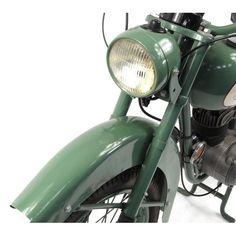 2002 - 1952 Green BSA Bantam motorbike, 15871 recorded miles, registration - AJK one recorded. 125cc Motorbike, Kids Motorcycle, Motorcycle Engine, Vintage Bikes, Vintage Cars, Bsa Bantam, Bikes For Sale, Motorbikes, Scooters
