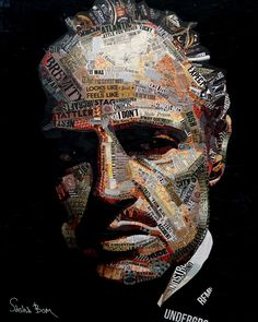 The Godfather Poster, The Godfather Wallpaper, Godfather Quotes, Paper Collage Art, Painting Collage, Collage Portrait, Culture Art, Newspaper Art, Political Art