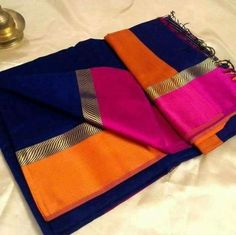 Such vibrant colours- kanjeewaram silk