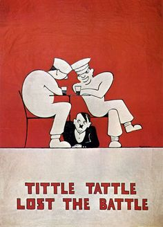 British poster: Tittle Tattle Lost the Battle