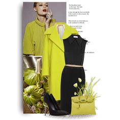 """""""K"""" is for Kiwi by bliznec on Polyvore featuring moda, Victoria Beckham, N°21, Casadei and Hermès"""