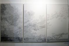 Solid Air by Roanna Wells - this is all hand stitched on silk organza - how stunning!