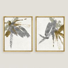 Thick silver and gold brushstrokes stretch across two panels. Cutting edge giclée technology allows this reproduction the feel of an original work of art, as if made just for you.