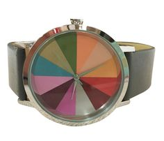 Time to see color differently, with this beautiful Color Wheel Watch.