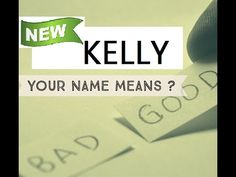 Kelly , Know Anyone By their Name - KELLY - Name Meaning-First Name ★҉ - YouTube