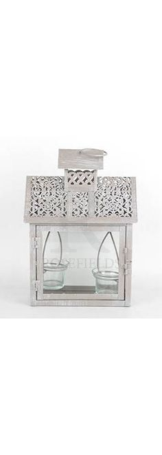 2 Piece Cut Out T Light Lantern Small @ rosefields.co.uk