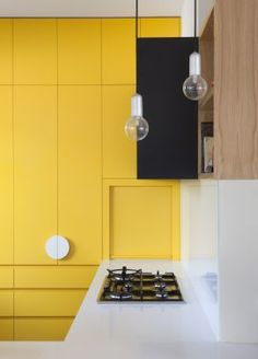 kitchens by Doherty design Studio Yellow Kitchen Chest of Drawers built into the Wall. Modern and contemporary kitchen design.Yellow Kitchen Chest of Drawers built into the Wall. Modern and contemporary kitchen design. Kitchen Dinning, Rustic Kitchen, Kitchen Time, Dining, Diy Kitchen, Contemporary Kitchen Design, Interior Design Kitchen, Contemporary Decor, Modern Design