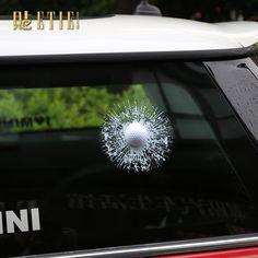Automotive Supplies 3D Tennis Ball Hit Car Stickers Rear Window Windshield Decal