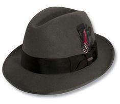 f9d629a3660 Scala Premium Wool Felt Detroit Fedora Dobbs Hats