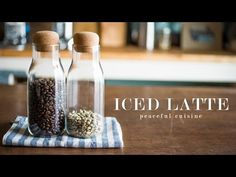 How to make Iced Latte ☆ アイスラテの作り方 - YouTube
