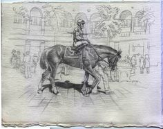 Racing Day May 26. 9x12 in. Original, Realism, Signed #Realism