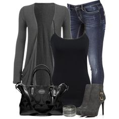 Gray and Black by denise-schmeltzer on Polyvore