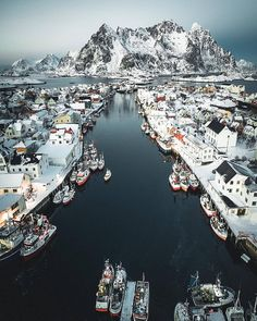 My favourite shot from last winter in Lofoten. Flying drone over Henningsvær which is my favourite place in Lofoten 🇳🇴 Lofoten, Places To Travel, Travel Destinations, Places To Visit, Travel Tips, Travel Ideas, Places Around The World, Travel Around The World, Wonderful Places