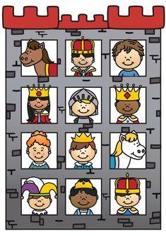Thema ridders en kastelen Dragons, Medieval, Conte, Prince Charming, Painted Rocks, Cool Kids, Clip Art, Teaching, Comics