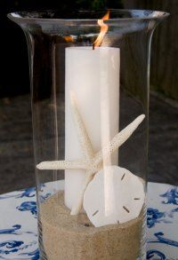 Simple centerpiece for any island/beach theme party     island interiors - Google Search