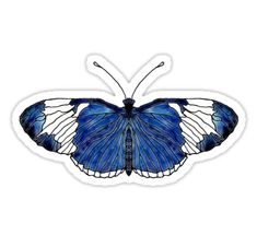 """Sapho Longwing Butterfly"" Stickers by Scribblestudio Pin And Patches, Insects, Butterfly, Stickers, Stuff To Buy, Sticker, Butterflies, Caterpillar"