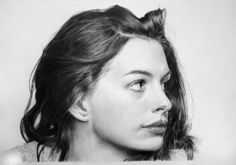 Anne Hathaway by francoclun on deviantART - pencil drawing  | First pinned to Celebrity Art board here... http://www.pinterest.com/fairbanksgrafix/celebrity-art/ #Drawing #Art #CelebrityArt