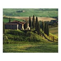 Italy. A pastoral Tuscany villa in Val d'Orcia. Posters