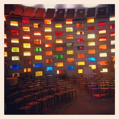 """@sussexuni's photo: """"Inside the Meeting House - stained glass aglow #sussexuni"""""""
