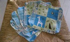GiraffeABet Cloth Wipes Set by MamaandNonni on Etsy, $6.25