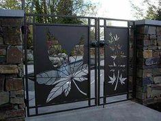 ворота в современном стиле KLEN