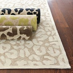 Naomi Indoor/Outdoor Rug...love this in green.  The best part....it's indoor/outdoor - you can rinse with a hose!!