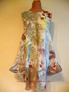 eco printed felt dress