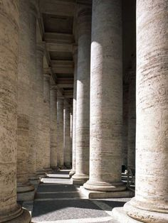 Colonnade at St. Peter's Square, Vatican City State, Rome, Italy