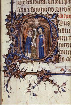 Bodleian, ms Laud. Misc. 188, fol. 21r, Angleterre, Heures à l'usage de Rome, 1380-1400, texte : Matines (Heures de la Vierge)
