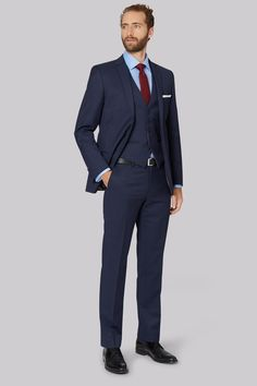 4c36e110e5fbf3 Ted Baker Tailored Fit Blue Pindot Suit