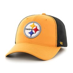 ca34c01dc72 Pittsburgh Steelers Draft Day Closer Gold 47 Brand Stretch Fit Hat