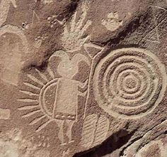 Spirals were found all over the globe in ancient caves drawings. They are thoughts to be gateways into the spirit world.