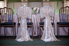 Mr and Mrs Chair Decor Glamour Elegant Wedding | Estera Events