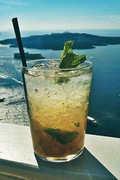 cocktail,mohito,mojito,santorini,greece,ocean,