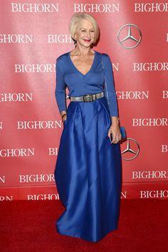 Helen Mirren The Best Looks from the Palm Springs Film Festival 2016 60 Fashion, Fashion Moda, Palm Springs Film Festival, Dame Helen, Cute Skirt Outfits, Helen Mirren, Advanced Style, Ageless Beauty, Cardigan