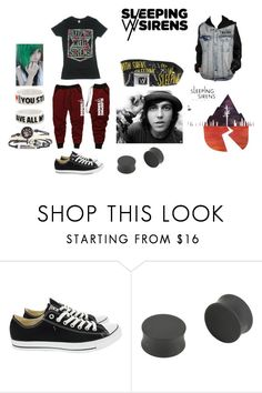 """""""SWS fan"""" by catxscrim ❤ liked on Polyvore featuring Converse"""