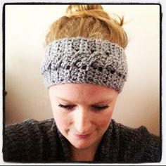"Sadie's Basket: Cable Stitch ""Jenna"" Headband Crochet Pattern.  Free pattern.  Great idea for leftover wool in my stash."