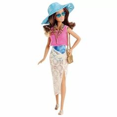 Barbie Colecionável Férias De Verão Azul Morena Mattel - R$ 119,99 no Mercado Livre