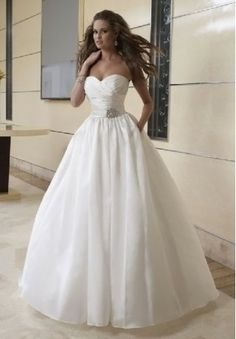 Taffeta Strapless Sweetheart Ball Gown For the Long Dress