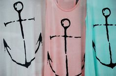 upcycle a tshirt and paint with acrylic or fabric paint (nautical theme)