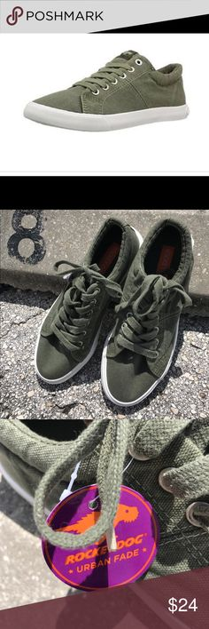 NWT Rocket Dog low top army green sneakers. NWT Rocket Dog low tops. Love the color of army green. In perfect condition. TTS. Rocket Dog Shoes Sneakers