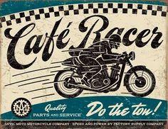 Cafe Racer Plechová Cedule | Prodej na Posters.cz