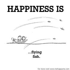 Happiness #237: Happiness is flying fish.