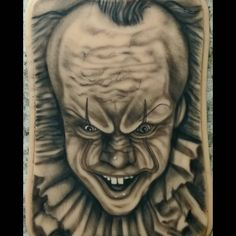 """Adam Woods's Instagram profile post: """"🤡Pennywise☠ 2nd portrait attempt on @apoundofflesh skin. #Tattoo #pennywise #it #tattooartist #tattoolife #supportgoodtattooing…"""" Pennywise The Dancing Clown, Life Tattoos, Tattoo Artists, Woods, Profile, Portrait, Instagram, User Profile, Headshot Photography"""