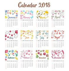 календарь на 2018 год шаблон для фотошопа
