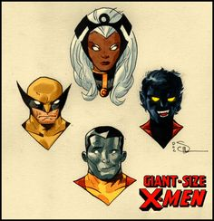 giant-size x-men storm, wolverine, nightcrawler, and colossus… 1975