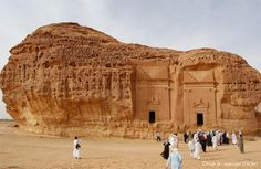 The archaeological site of Mada'in Saleh, previously known as Hegra, is the most famous ancient site in Saudi Arabia.  It is also the first archaeological site of Saudi Arabia to be include