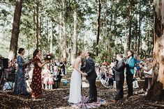 Forest Ceremony! High fives to Donnelly River Village for hosting this awesome event! I highly recommend Donnelly River as an awesome location for a relaxed, boho style wedding. There's something about having your ceremony in a forest that is so freaking cool, I want to go back! Blooms were by the lovely Rue Rose Co.